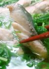 鯖好きさんへ♬鯖と水菜の超簡単はりはり鍋