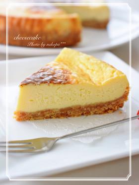 簡単*粉無し*濃厚ベイクドチーズケーキ
