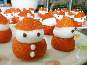 クリスマスに☆苺のサンタさん♪