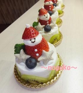 ワンコ(犬)のクリスマスケーキ