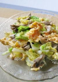 舞茸美味しい!キャベツ&いり卵のサラダ