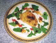 カジキマグロのパン粉焼きバルサミコソースの写真