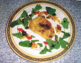 カジキマグロのパン粉焼きバルサミコソース