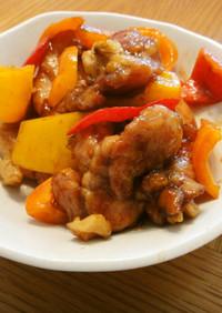 鶏肉とパプリカのオイスタ炒め