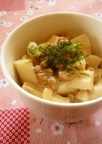 食感楽し♡納豆&長芋&竹輪マヨサラダ♪