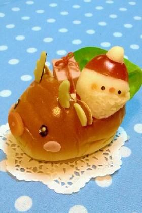 クリスマスに♡キャラパン*トナカイ号*