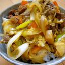 ランチ◎簡単♪牛こまと葱☆すき焼き風牛丼