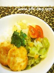 ★ワンコ用 お豆腐と鶏肉のハンバーグ★の写真