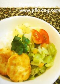 ★ワンコ用 お豆腐と鶏肉のハンバーグ★