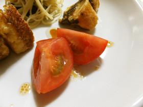 オリーブオイル醤油deトマト