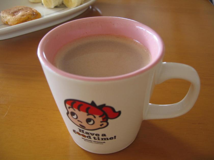 栄養満点ホットミルク♪