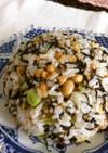 納豆とヒジキのチャーハン風梅干混ぜご飯