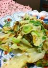 キャベツと卵の醤油麹炒め☆