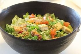 簡単!栄養たっぷり豆腐入りサラダ