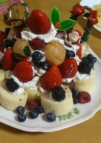 子どもと楽しく作る簡単X'masケーキ