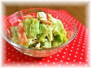 ゆでキャベツの白ゴマ風味サラダの写真