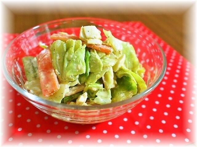 ゆでキャベツの白ゴマ風味サラダ