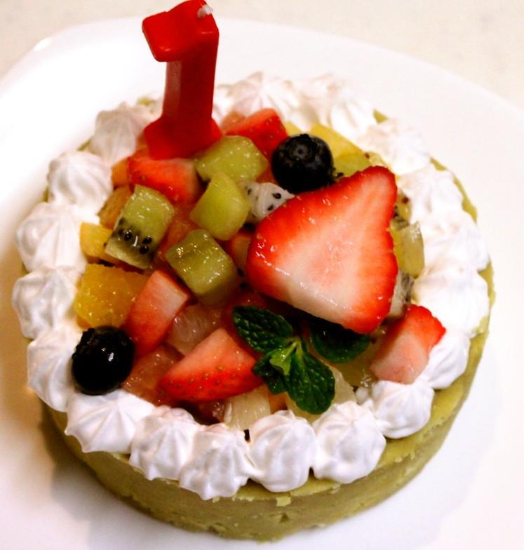 さつまいもで♪1歳のバースデーケーキ
