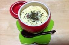 洋風茶碗蒸し☆バジル+チーズでどうぞ!