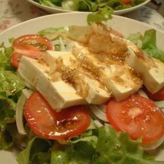 夏は涼しく、お豆腐サラダ
