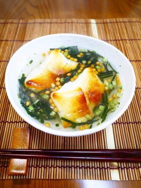 お正月に♪焼き餅+お茶漬け=簡単お雑煮!