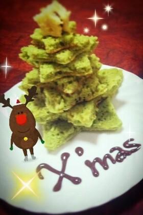 簡単☆ホットケーキ クリスマスツリー