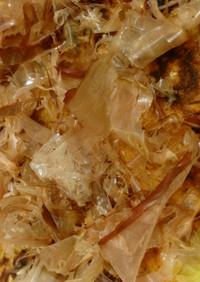 塩糀昆布と酢醤油のあっさりお好み焼き