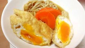 油揚げで卵巾着&野菜のすき焼き煮