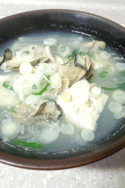 栄養満点牡蠣スープ(汁)