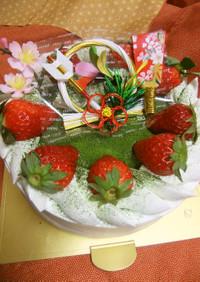 抹茶の和風お正月ケーキ♡