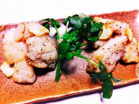 白身魚のガーリックソテー