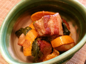 みかんで作る豚角煮