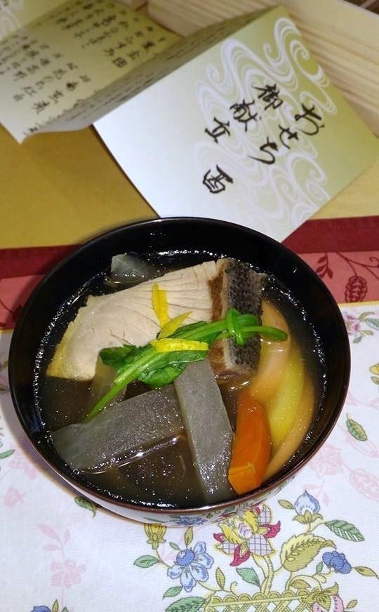鰤と蛤のお雑煮 広島系