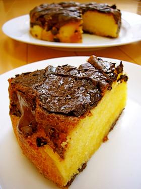 超簡単♪しっとり♡チョコHMバターケーキ