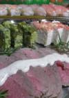 ローストビーフ、マスカルポーネのソース