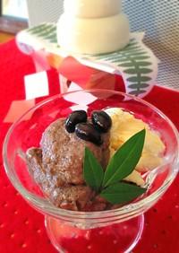 卵白で作る黒豆ムース