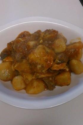 ブリと里芋のチリソース煮