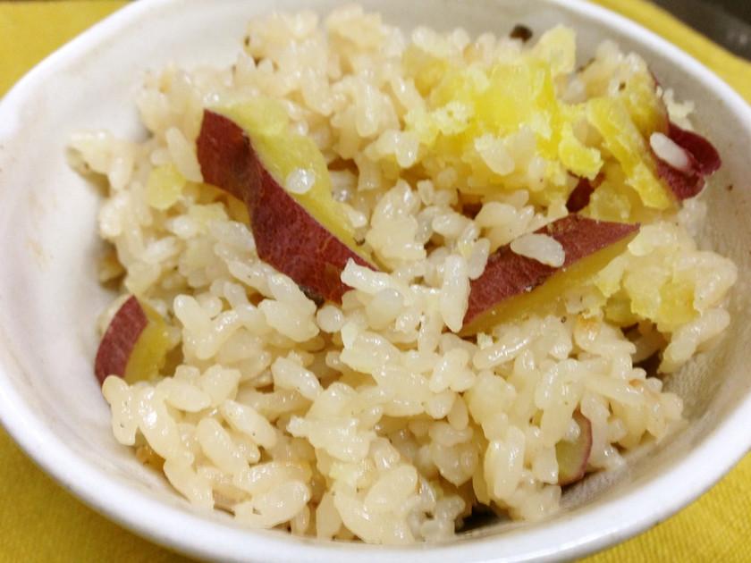 塩糀昆布のサツマイモ炊き込みご飯