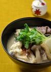 糖質オフ野菜ほうりこめ汁on the豆腐