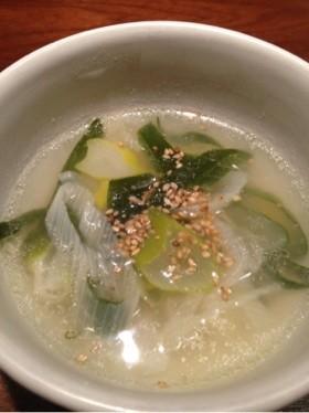 ウェイパーで簡単下仁田ネギの中華スープ