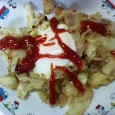キャベツと卵のすごもり焼き
