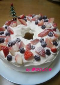 2012我が家の簡単クリスマスケーキ