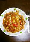 カニとマイタケのトマトスパゲティ