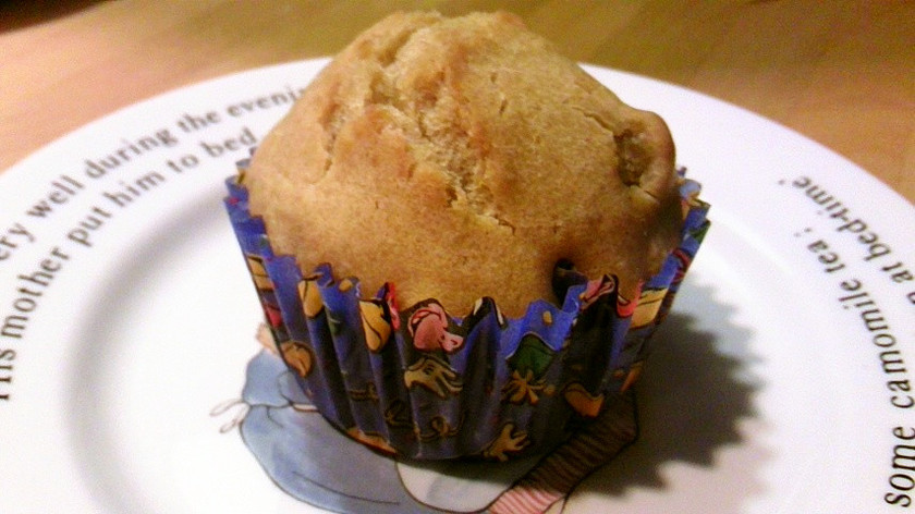 栗きんとんと黒豆のカップケーキ