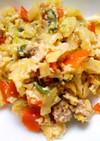 減塩食☆豆腐とちくわとひき肉の野菜炒め