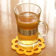 琥珀色。ブラウンシュガーの紫蘇ジュース