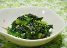 小松菜とわかめのゴマ味噌和え