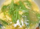 水菜と卵のコンソメスープ