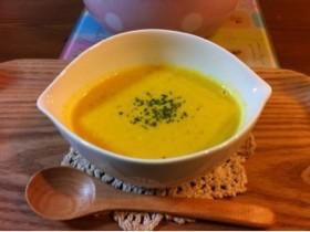 牛乳でかぼちゃスープ