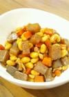 大豆と人参と蒟蒻のコロコロ煮